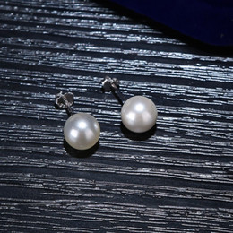 $enCountryForm.capitalKeyWord Australia - Pearl earrings round female temperament lady fashionable 2019 new products