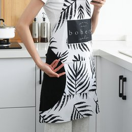 Cotton Cloth Apron Australia - Oxford Nordic Creative Home Household Adjustable Cloth Kitchen Cooking Waterproof Oil-proof Half Apron Accessories 2019NEW Hot