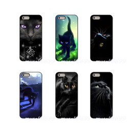 Black Case For Iphone 4s Australia - Black Cat Staring Eyes Hard Phone Case Cover For Apple iPhone X XR XS MAX 4 4S 5 5S 5C SE 6 6S 7 8 Plus ipod touch 4 5 6