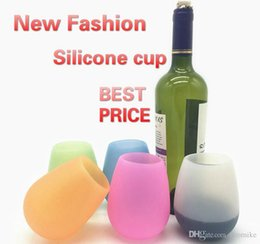 For Tumblers Australia - Silicone Wine Glass Stemless Tumbler Rubber Beer Mug Eco Unbreakable Cups for Cocktail Drinking Outdoor BBQ Camping Portable Wine Glasses