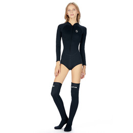 $enCountryForm.capitalKeyWord Australia - New One-piece Bikini Quick-drying Diving Swimsuit 2mm Warm Long Tube Diving Socks Surf Diving Suit Made In China High Quality