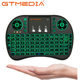 Hebrew keyboards online shopping - Spanish Mini i8 Wireless Keyboard English Hebrew letters Air Mouse Remote Control Touchpad For Android TV Box Notebook Tablet Pc