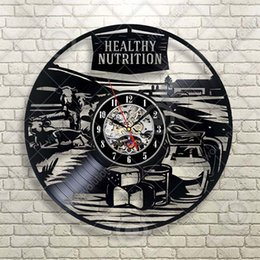 farm art NZ - Farm Country Rural Healthy Nutrition Vinyl Wall Clock Kitchen Restaurant Handmade Art Personality Gift (Size: 12 inches, Color: Black)
