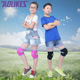 Elbow Supports Children Australia - 1 Pair New Kids Ski Sports Kneepads Baby Crawling Safety Children Dance Knee Support Football Basketball Volleyball Knee Pads #321103