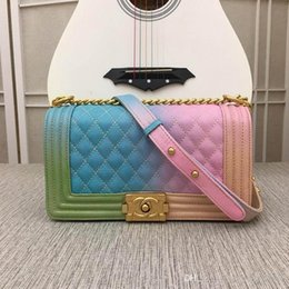 luxury designer bag leather Australia - Luxury Classic Wave Pattern Flap Chain Bag Oil Wax Real Leather Shoulder Handbag Designer Bags Crossbody Purse Messenger Bag 67086 w88