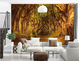 $enCountryForm.capitalKeyWord NZ - 3d wallpaper custom photo Mural background European forest road, autumn landscape canvas wall art trees red black wall art canvas pictures