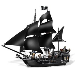 Number Blocks Australia - New product Selling Building Blocks Assembly Puzzle Black Pirate Ship Black Pearl Number Children's Educational brain gameToys Gift