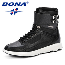 $enCountryForm.capitalKeyWord Australia - BONA New Designer Style Men Boots Fashion Ankle Winter Men Shoes Autumn Microfiber Footwear For Man Trendy High Top Casual