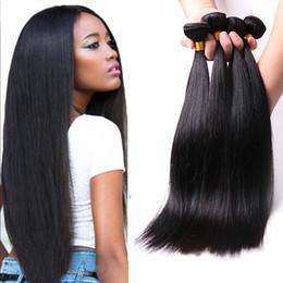 $enCountryForm.capitalKeyWord Australia - 8A Straight Hair Bundles Remy Human Hair Weave 3 4 Bundle Deals 10-28 Inch Natural Unprocessed Virgin Malaysian Straight Hair Extensions