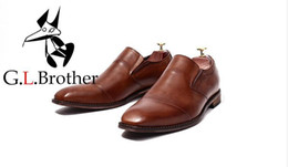 $enCountryForm.capitalKeyWord Australia - Lace-Up Men's Dress Oxfords Male Smart Casual Genuine Leather Square Toes Solid Wedding Men Dress Shoes Low Top Formal Business