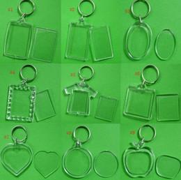 Blank photo keychains online shopping - DIY Acrylic Blank Photo Keychains Shaped Clear Key Chains Insert Photo Plastic Keyrings