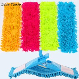pedal pads NZ - Home Cleaning Pad Chenille Household Dust Mop Head Replacement Orange Red Green Blue Soft Texture Durable Practical 40x12cm 2019 C19041701