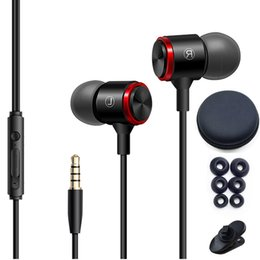 iphone earphones metal Australia - E3 3.5 MM Wired Earphone Metal Stereo Bass Mini Headphone Sports In Ear Earphone Mic And Volume Control Headset Noise Cancelling Earbuds