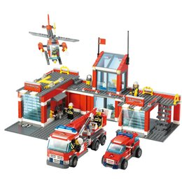 $enCountryForm.capitalKeyWord NZ - Fire Building Block Fire Department Fire Truck Children's Building Block Assembling Puzzle Toys 6-8 Years Old 8051