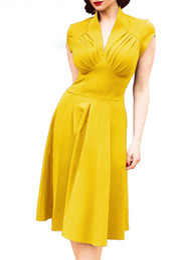 168f78d8040ec Casual western summer dresses online shopping - Women Retro Dress Cap Sleeve  V Neck Sexy s