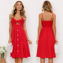 a0aaa99965 2019 Cross-border supply ebay Amazon Europe and the United States new bow  strap sexy backless dress strap dress