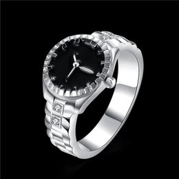 diamond ring watch NZ - Creative Faux Steel Finger Ring Watch Women Mens Top Brand Diamond Dial Quartz Watch Rings Couple Gift Just a Decoration