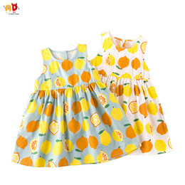 Discount kids stylish clothing - good quality Stylish Quality Cotton Girls Dresses for Summer Well design Back Hollowed Lemon Girls Dress Kids Clothes Ch
