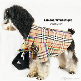Personality T Shirts NZ - Tide Brand Stripe Pets T-shirts INS Fashion Summer Cotton Pet Shirts Outdoor Personality Breathable Teddy Bulldog Apparel