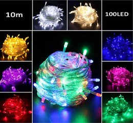 outdoor festival decorations Australia - 10M Waterproof 110V 220V led string 100 LED RGB white holiday String lights for Christmas Festival Party Decorations