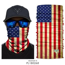skull half face mask bandana NZ - Skull Flag Headwear Bandana Neck Gaiter Head Wrap Headband for Men and Women Multifunctional Head Scarf Face Mask Balaclava Magic Scarf