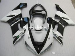 aftermarket fairing kits zx6r Australia - Aftermarket body parts fairing kit for Kawasaki Ninja ZX-6R 636 05 06 white black fairings set ZX6R 2005 2006 MS10