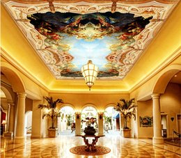 Mural painting wallpaper oil online shopping - 3d ceiling murals wallpaper custom photo Medieval classical oil painting character indoor home decor d wall murals wallpaper for walls d