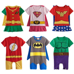 $enCountryForm.capitalKeyWord NZ - Baby Boys Girls Superhero Costume Romper Infant Cosplay Funny Jumpsuit Playsuit Toddler Carnival Party Fancy Dressing Up Cos Q190520