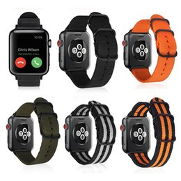 $enCountryForm.capitalKeyWord Australia - Soft Breathable Sport Nylon Woven Watchband Adjustable Metal Buckle Replacement Wrist Band Strap for Apple Watch iWatch Series 4 3 2 1