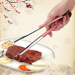 $enCountryForm.capitalKeyWord Australia - Stainless Steel Bread Clip Salad Ice Cake Barbecue Clip Tongs Anti-scalding Steak Clip Kitchen Baking Tools Accessories 22.5CM DBC DH0855