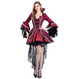 $enCountryForm.capitalKeyWord UK - Bloody Beautiful Vampire Queen Costume Plus Size XL XXL Halloween Womens Classic Vampire Costume Deluxe Victorian Uniforms