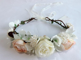 braid hair accessories Australia - Girls flowers crown Custom made simulation flowers headband Grass Braid hand made floral werath children princess hair accessories A1791
