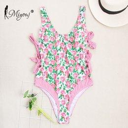 $enCountryForm.capitalKeyWord NZ - Miyouj 2019 Fashion Swimwear Women Bathing Suit New Swimsuit Women's Beach Print Bikinis Female Monokini Push Up One-piece Suits Y19062901