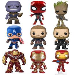 $enCountryForm.capitalKeyWord Australia - Marvel Avengers 3 Infinity War Thanos Captain America Iron Man Action Figure Thor Toy Spiderman Black Panther PVC Model Dolls