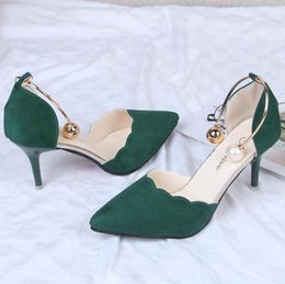 Green Women Shoes Ribbon Lace Australia - Fashion luxury designer women Dress shoes Sexy Hollow With Sandals Summer Korean Version Of The Thin Breathable Pumps High heels Female Lace