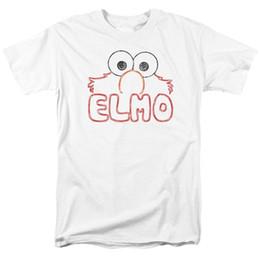 832573b7 SESAME STREET ELMO LETTERS MENS T SHIRT SMALL TO 5XL Mens 2018 fashion  Brand T Shirt O-Neck 100%cotton T-Shirt