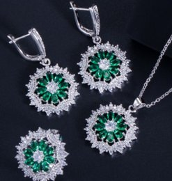 Großhandel Schmucksache-Halskettenohrringe 43fdf der Qualitäts niedrigen Preis mehr Farbdiamantkristallhochzeitsbraut jewerly