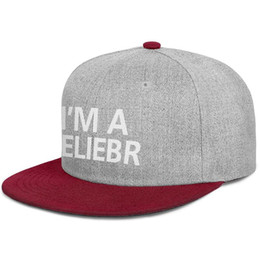 $enCountryForm.capitalKeyWord UK - I'm A Belieber Beanie Justin Bieber For Men Flat Bill Cap Mesh FitsDyed CutePrintedTeenagersGolfCaps