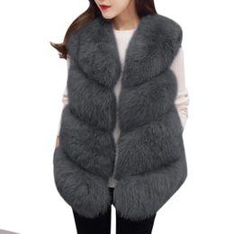 $enCountryForm.capitalKeyWord Australia - Nice Pop Women Fur Vest Coat Thick Fluffy Warm Woman Faux Fox Fur Vest Coat Jackets O-neck Manteau Fourrure Femme 3xl Plus Size