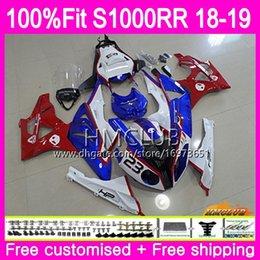 mold body Australia - Injection mold For BMW S 1000RR S1000 RR S1000RR 18 19 Bodywork 34HM.13 S1000-RR S 1000 RR 2018 2019 OEM Body 100% Fit Fairing Top Red blue