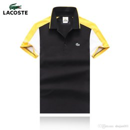 Butterfly Polo Australia - 18ss Summer Men Polo Shirts Short Sleeve Cool Cotton Butterfly Print Slim Fit Casual Business Men Shirts Luxury Size S-XXL