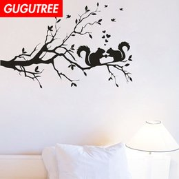 $enCountryForm.capitalKeyWord Australia - Decorate Home trees squirrel cartoon art wall sticker decoration Decals mural painting Removable Decor Wallpaper G-1893