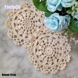 Hot Round Cotton Crochet Table Place Mat Cloth Lace Placemat Cup Mug Coffee Tea Coaster Dish Doily Christmas Dining Pad Kitchen Latest Technology Kitchen,dining & Bar Home & Garden