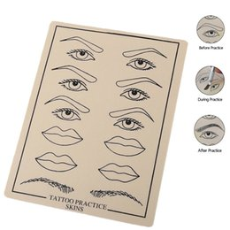 permanent makeup eyebrows practice skin NZ - 10 pcs Skin Silicone Sheet Eyebrow Lip Permanent Makeup Tattoo Practice flexible for more authentic tattooing experience