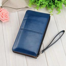 Fashion Korean Women Clutch Bag Mit Armband Leder Einfarbig Lady Girl Lange Brieftasche Kartenhalter Mit Reißverschluss Geldbörse MSJ99
