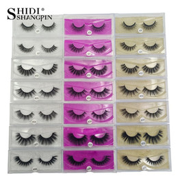 Natural Strip Eyelashes NZ - SHIDISHANGPIN 1 Box Mink Eyelashes Natural Long 3D Mink Lashes Hand Made False Eyelashes Full Strip Lashes Makeup False Fake Eyelash