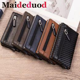 $enCountryForm.capitalKeyWord Australia - Maideduod Fashion Smart card holder Leather Coin Purses Magnetic Closing Card case Casual Men wallet RFID Blocking Card Wallet