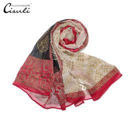 $enCountryForm.capitalKeyWord Australia - 100% Pure Silk Chiffon Hijab Long Scarf 122X250cm Plus Size Fashion Style New Design Printing Flower Silk Woman Ladies Scarves