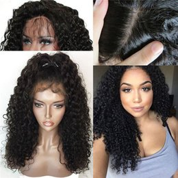 Brazilian Virgin Kinky Curly Lace Wig Australia - new arrival Kinky Curly 150% density natural color human hair wig lace front wig virgin brazilian full lace wig