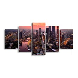 $enCountryForm.capitalKeyWord Australia - 5 pieces high-definition print the view of the city canvas painting poster and wall art living room picture CZFJ5-005